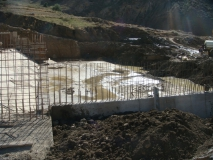 Réalisation dun petit barrage à Tamellaht, Tissemssilt